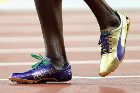 usain bolt running shoes gold. (patrick smith/getty images) usain bolt running shoes gold