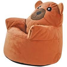 pillow chair. kids animal design armchair beanbag indoor bedroom pillow cushion chair seat new g