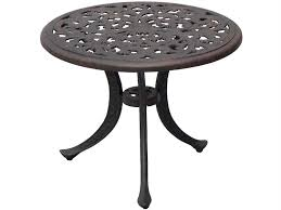 darlee outdoor living series 80 cast aluminum antique bronze 21 round end table