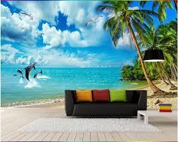 Beibehang Aangepaste Behang 3d Zee Landschap Strand Kokosnoot