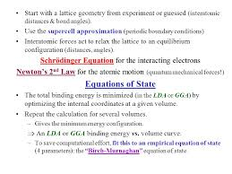 16 equations of state schrödinger equation for the interacting electrons
