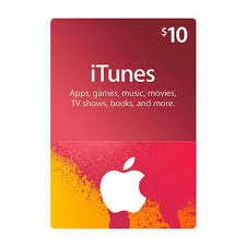 itunes gift card 10 us region email