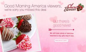 good morning america gma valentine s day steals and deals shari s berries