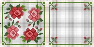 Free Biscornu Charts Biscornu Roses Flowers Free Cross Stitch Patterns Crochet