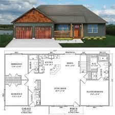 Best 25 One Level House Plans Ideas On Pinterest  Four Bedroom Open Floor Plans For One Story Homes