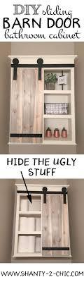 barn door bathroom cabinet