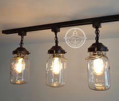track lighting hanging pendants. Flush Mount Ceiling Light Mason Jar TRACK LIGHTING Fixture Trio With Vintage Quarts - Chandelier Pen Track Lighting Hanging Pendants
