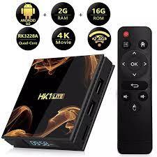 Android 9.0 TV Box HK1 Lite Smart TV Box 2GB DDR3 16GB 2.4G WiFi 4K Media  pemain RK3228A Quad Core Set Top Box|Set-top Box