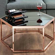 rose gold side table sofa side table hexagonal desk rose gold table a sense of quality