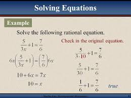 martin developmental mathematics 42 solving equations first note that an equation contains an