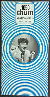 1958 Chum Chart Chums Dial 1050 Radio Music Vintage Toronto