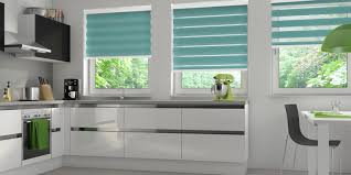 Roman Blinds In Kitchen Vision Blinds Bolton Duo Blinds From Budget Blinds