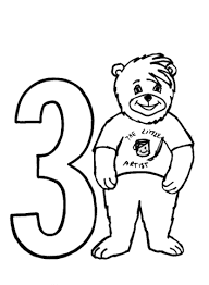 Small Picture Number 3 coloring page Free Printable Coloring Pages