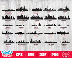 This is a file from the wikimedia commons. Us Skyline Svg Dxf Eps Png Clipart Silhouette And Cutfiles