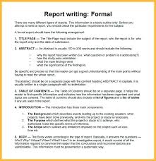 Business Report Structure Template Format Example Writing