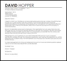 letter of termination due to layoff