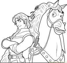 Small Picture Flynn with Maximus Coloring Page Free Tangled Coloring Pages