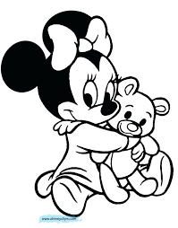 Minnie Mouse Printable Coloring Pages Baby Minnie Mouse Colouring