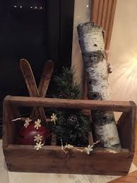 Old wooden tool box decorated for Christmas | Christmas decorations,  Christmas tools, Wood tool box
