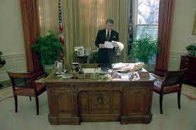 white house oval office. Unique White President Ronald Reagan Alone In The White House Oval Office To