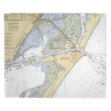 Tx Port Aransas Tx Nautical Chart Blanket In 2019
