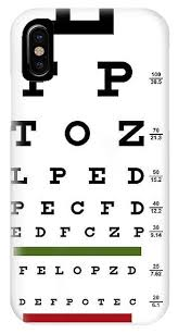 Eye Test Chart For Phone Deluxe Vision Test Chart Iphone X Case
