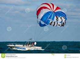 Fort Lauderdale Parasail Parasailing Boat Off The Florida Coast Editorial Stock Image
