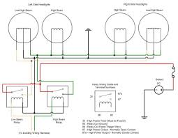 car headlight wiring diagram car wiring diagrams online wiring headlight relays