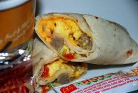 sausage burrito from mcdonald s nurtrition