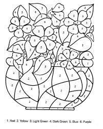 Colorare Numeri Disegno Mazzo Di Fiori Con Numeri