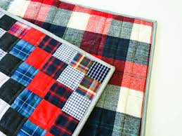 A Birthday Quilt, Or What To Do With Old Plaid Shirts | Sewaholic & quilt made with old plaid shirts-1-5 Adamdwight.com