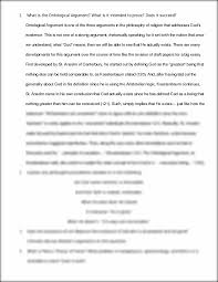 philosophy final what is the ontological argument what is it  this preview has intentionally blurred sections sign up to view the full version