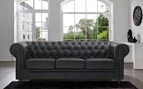 black leather tufted sofa. Classic Scroll Arm Tufted Bonded Leather Chesterfield Large Sofa - Walmart.com Black U