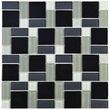 merola tile spectrum block black and white 11 3 4 in x 11