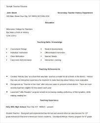 Teacher Resume Doc Kordurmoorddinerco Magnificent ResumeDoc