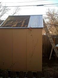 sheet metal shed roof good roof ideas