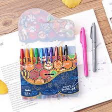 JIANWU 6pcs or <b>12pcs</b>/<b>set japan</b> Pentel brush pen art maker pen ...