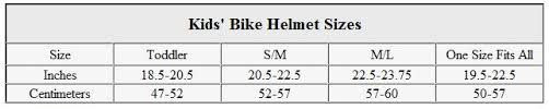 Motorcycle Helmet Measurement Chart Bike Helmet Size Cycling Running Swimming Triathlon