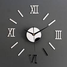 luxury large wall clock living room diy 3d home decoration mirror art design fashion wall posters decor crafts clock new sticker walls stickers decor from