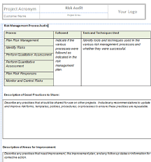 risk questionnaire template co monitor and control risks project templates project management