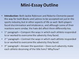writing and journal cultural sensitivity is  mini essay outline introduction both jackie robinson and roberto clemente paved the way for