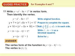 example 6 write a quadratic function in
