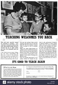 1965 magazine advertisement to encourage married women qualified 1965 magazine advertisement to encourage married women qualified teachers to return to teaching for editorial use only