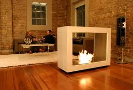 modern freestanding electric fireplace