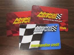 advance auto parts gift card merchandise credit balance 92 00