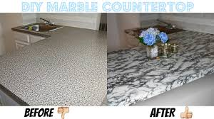 Creative Diy Countertops Easy Diy Marble Countertop Affordable And Rental Friendly Youtube