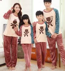 Thick Family Matching Pajamas Winter Autumn Flannel Family ...