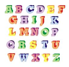 Serif 3D Block Alphabet