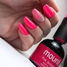 nail polish gel pink sensations