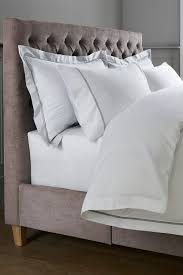 next 600 thread count cotton sateen collection luxe duvet cover and pillowcase set white